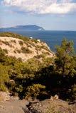 Zandige onderbreking op de kust Stock Afbeelding