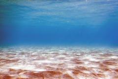 Zandige overzeese bodem Onderwaterachtergrond stock afbeelding
