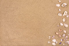 Zandige strandachtergrond, exemplaarruimte, de zomer Stock Afbeelding