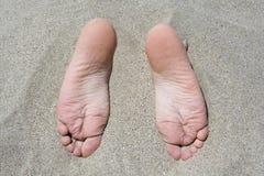 Zandige voeten Royalty-vrije Stock Fotografie