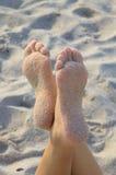 Zandige voeten Stock Foto's