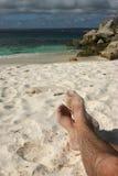 Zandige voeten Stock Foto