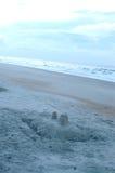 Zandkasteel stock foto's