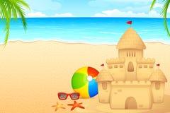 Zandkasteel royalty-vrije illustratie