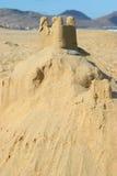 Zandkasteel door het overzees Stock Fotografie