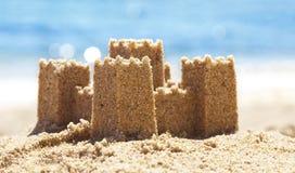 Zandkasteel op Strand Royalty-vrije Stock Foto's