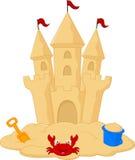 Zandkasteelbeeldverhaal vector illustratie