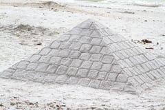Zandkasteelpiramide Stock Fotografie