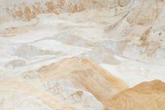 Zandkuil die industrieel kwarts ontginnen Stock Afbeelding
