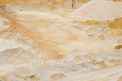 Zandkuil die industrieel kwarts ontginnen Stock Fotografie