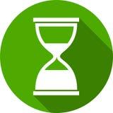 Zandloper groen pictogram om vlakke stijl Royalty-vrije Stock Fotografie