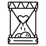 Zandloper met menselijk hart royalty-vrije illustratie