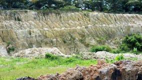Zandmijnen en erosie stock footage