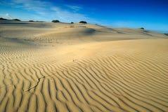 Zandpatronen en lijnen Stock Foto