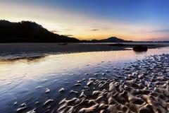 Zandpatroon in vroege ochtend stock fotografie