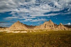 Zandsteen in Badlands, Zuid-Dakota stock afbeeldingen