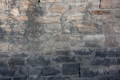 Zandsteen en concrete muur Royalty-vrije Stock Fotografie