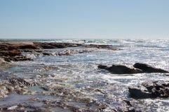 Zandsteen en Overzees: Het Punt van Jake, Kalbarri Stock Foto