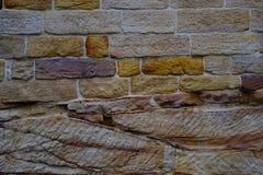 Zandsteenbakstenen muur Stock Foto's