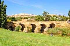 Zandsteenbogen over de Steenkoolrivier - Richmond stock foto