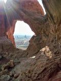 Zandsteenboog in Bogen Nationaal Park Royalty-vrije Stock Foto's