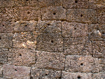 Zandsteenmuren Stock Foto