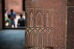 Zandsteenmuur van oud fort royalty-vrije stock afbeelding
