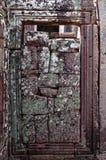 Zandstenen in deuropening in Angkor-tempel Royalty-vrije Stock Foto