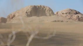 Zandstorm in de woestijn stock footage