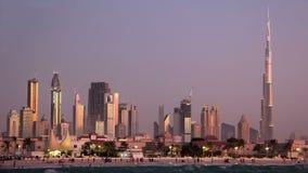 Zandstorm in Doubai de stad in. Verenigde Arabische Emiraten stock video