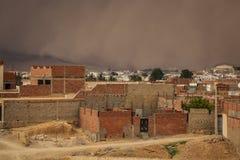 Zandstorm in Gafsa, Tunesië Stock Foto's