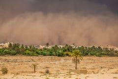 Zandstorm in Gafsa, Tunesië Stock Afbeelding