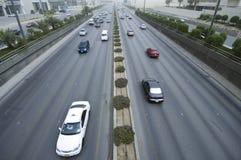Zandstorm in Riyadh Stad stock afbeelding