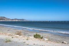 Zandstrand bij Avila Strand, Californië Royalty-vrije Stock Afbeelding
