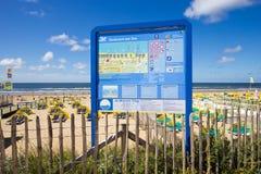 Zandvoort aan Zee beach - Holland Stock Image
