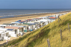 Zandvoort beach and dunes overview Stock Photography