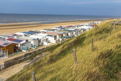 Zandvoort beach and dunes overview royalty free stock image