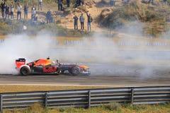 Zandvoort do circuito do carro do Fórmula 1 de Max Verstappen fotos de stock royalty free