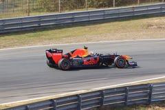 Zandvoort do circuito do carro do F?rmula 1 de Max Verstappen fotos de stock