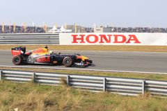 Zandvoort do circuito do GP de Max Verstappen imagens de stock