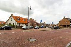 Zandvoort nederländska Juni 10 2017: Arkitektur och gator av den gamla staden Zandvoort är en huvudsaklig havssemesterort och Royaltyfri Foto
