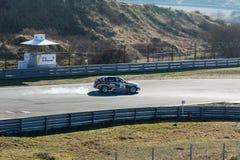 Zandvoort, Noord-Holland/Nederland - Februari 23 2019: 8ste Krings kort-Verzameling bij Race Kring Zandvoort BMW 1 seriesluiten stock foto