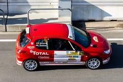 Zandvoort, Noord-Holland/Nederland - Februari 23 2019: 8ste Krings kort-Verzameling bij Race Kring Zandvoort rood Peugeot 206 royalty-vrije stock fotografie