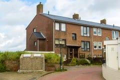 Zandvoort, o 10 de junho holandês 2017: Arquitetura e ruas da cidade velha Zandvoort é um recurso principal do mar e Imagens de Stock Royalty Free