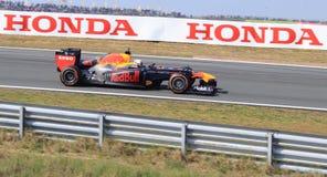 Zandvoort vermelho do circuito do touro de Max Verstappen foto de stock