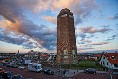 Zandwoort town center in Holland Royalty Free Stock Photos
