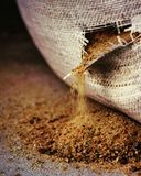 Zandzak! Het zand is shant! Royalty-vrije Stock Afbeelding
