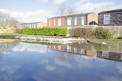 Zandzakken en vloedwateren, Basingstoke Stock Afbeeldingen