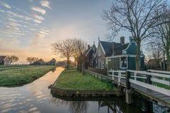 Zanes-Schans netherlands Holandês, moinho fotos de stock