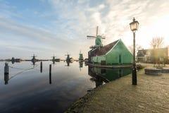 Zanes-Schans netherlands Holländer, Mühle stockbilder